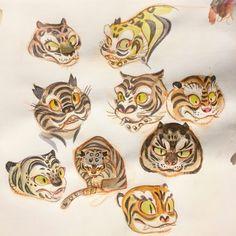 Tiger Drawing, Tiger Art, Painting & Drawing, Character Drawing, Character Illustration, Illustration Art, Character Design, Love Drawings, Colorful Drawings