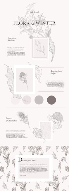 Floral Patterns & Illustrations by Laras Wonderland on @creativemarket