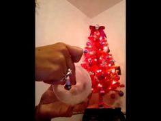 Esfera nevada hecha con botella de plástico