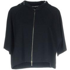 Kangra Cashmere Sweatshirt ($38) ❤ liked on Polyvore featuring tops, hoodies, sweatshirts, dark blue, short sleeve sweatshirt, dark blue top, zip top, zipper top and short sleeve tops