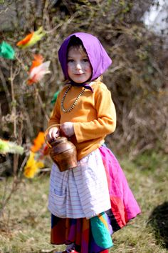 In Sweden, children dress up as Easter Witches (påskkärringar) and go around to neighbors' houses, wishing them happy Easter, giving out home made Easter cards and get sweets in return.