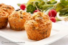 Pin on Brânză Tempeh, Canapes, Food Videos, Baked Potato, Foodies, Muffins, Stuffed Mushrooms, Deserts, Appetizers
