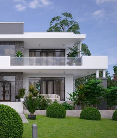 Modern Small House Design, Modern Exterior House Designs, Modern Villa Design, Design Exterior, Design Your Dream House, House Front Design, Modern Farmhouse Exterior, Home Building Design, Home Design Plans