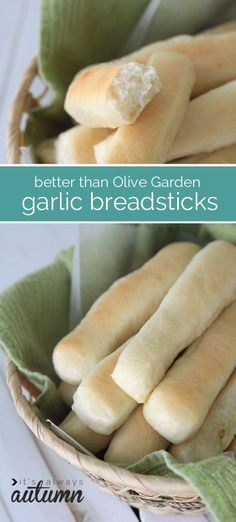 these are the best garlic breadsticks - better even than Olive Garden's! step by step photos so anyone can make them, even if you've never baked bread before.
