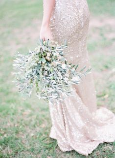 Olive green organic wedding inspiration ~ Katie Julia Photography