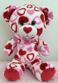 """BUILD A BEAR Big Head Valentine Hearts Plush Rare 17"""" #AllOccasion"""