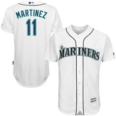Edgar Martinez Seattle Mariners Majestic Official Cool Base Player Jersey - White