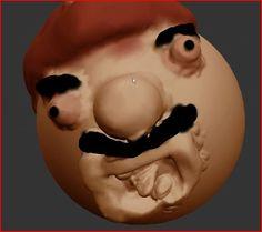 Mario Fan Art, Body Shots, Super Mario Bros, Full Body, Sculpting, Rest, 3d, Website, Inspired