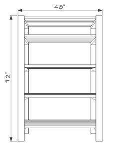 DIY 2x4 Storage Shelves - Free Plans - Construct101 Diy 2x4 Storage Shelves, Corner Storage, Shed Storage, Built In Shelves, Bench With Storage, Garage Storage, Corner Bench, Bookshelf Design, Wall Shelves Design