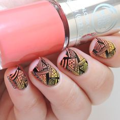 Tribal Stamping Nail Art