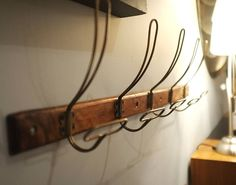 reclaimed wood and vintage brass coat hook by cambrewood | notonthehighstreet.com
