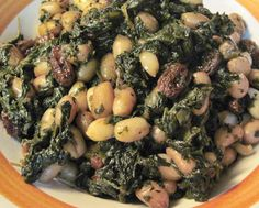 Indian-Style Spinach with Raw Peanuts & Raisins (vegetarian, & you can make it Vegan by using vegetable oil instead of ghee): http://carolinasaucecompany.blogspot.com/2013/03/indian-style-spinach-with-raw-peanuts.html