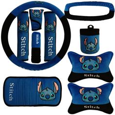 Buy Wholesale Stitch Car Seat Interior Accessories Plush Universal Steering Wheel Cover Seat Belt Cover - Blue from Chinese Wholesaler Lilo And Stitch Memes, Lilo Et Stitch, Disney Car Accessories, Interior Accessories, Hello Kitty Car, Cute Stitch, Girly Car, Sewing Stitches, Wheel Cover