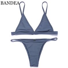 11$  Buy here - BANDEA Woman Swimsuit 2017 New Color Bikini Brazilian Swimwear Micro Bikini Halter Strap Swimwear Brazilian Bikinis   #aliexpresschina