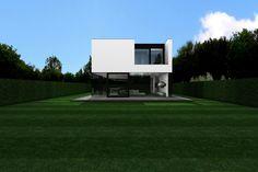 icoon.be architecten minimalist glass house dilbeek