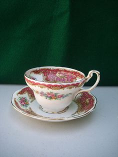 Foley E Tea Cup and Saucer. $20.00, via Etsy.