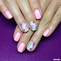 Bright Gel Nails, Shellac Nail Colors, Pink Nails, Cute Nail Art, Nail Art Diy, Summer Gel Nails, Seasonal Nails, Acrylic Nails Coffin Short, Classic Nails