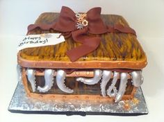 Steampunk Tentical Giftbox Cake by ~Corpse-Queen on deviantART