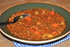 """The German lentil soup is a traditional German soup, that we call """"Eintopf"""". This authentic German recipe is easy to make. The best in fall and winter."""