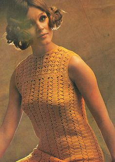 Items similar to PDF Vintage Womens Ladies Flapper Dress Crochet Pattern 1920 style Lacy Period Romantic 'All that Jazz' Sleeveless Drop Waist Disco on Etsy Retro Crochet Dress, Vintage Crochet Dresses, Vintage Dress Patterns, Crochet Clothes, Crochet Tops, Vintage Knitting, Vintage Ladies, Vintage 70s, Vintage Outfits