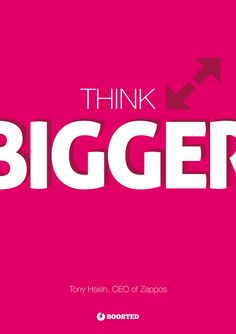 Motivační plakát Mysli ve větším (Anglicky)