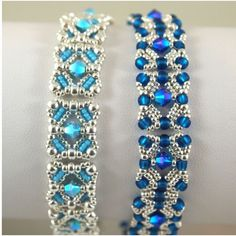 Best Bracelet Perles 2017/ 2018 : A couple more variations on Deb Moffet-Hall's Aug 2012 bracelet design...aqu...