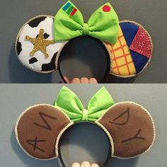 Toy Story Woody Themed Ears - Cute Disney outfit and stuff - Disney Diy, Diy Disney Ears, Disney Mickey Ears, Mickey Ears Diy, Micky Ears, Disney Stuff, Disney Ears Headband, Disney Headbands, Ear Headbands