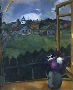 "Marc Chagall - ""Window. Vitebsk"". 1908 year"