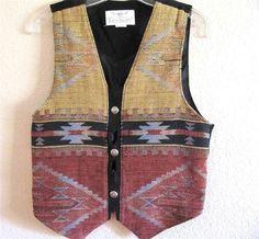 Designer Vest Size Small, Longhorn Country, Western Southwestern Women's $23.50 #WesternVest JustLuvTreasures.com