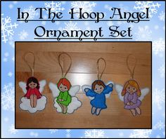 In The Hoop Angel Christmas Tree Ornament by NewfoundApplique, $6.99