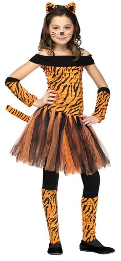 Brand New Fun World Spunky & Funky Sweet Tigress Child Costume for Halloween Seussical Costumes, Book Costumes, Diy Costumes, Dance Costumes, Costume Ideas, Animal Costumes For Kids, Halloween Costumes For Girls, Halloween Cosplay, Halloween Makeup