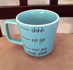 Coffee Cup, Coffee Mug, Light Blue Coffee Cup, Now You May Speak Coffee Cup on Etsy, $10.50