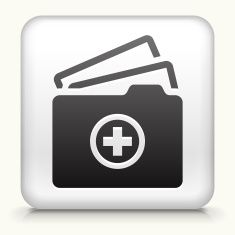 White Square Button with vector art illustration