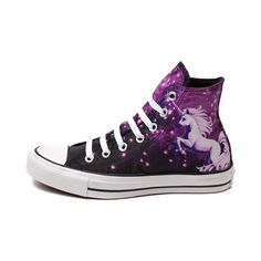 You need these galaxy high tops in your life. | 27 Unicorn Fashion Pieces That'll Bring Magic To Your Closet