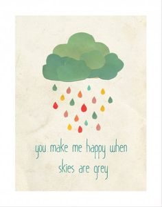 """When Skies are Grey print- newest design from Children Inspire Design's Rebecca Peragine.  This print resonates with any parent who ever sang """"You are my Sunshine"""" to their child.   11x14 $30"""
