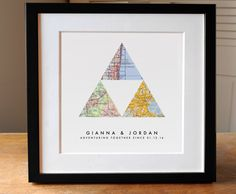 3 Map Triangle Symbol Print