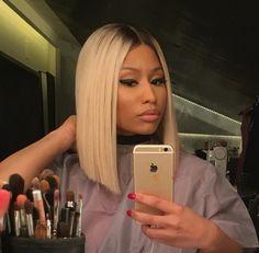 nicki minaj, iphone, and makeup image
