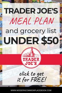 Healthy Meals On A Budget Trader Joes Easy Meal Plans, Free Meal Plans, Easy Meals, Easy Recipes, Frugal Meals, Vegan Recipes, Vegetarian Grocery Lists, Meal Prep Grocery List, Vegetarian Meal