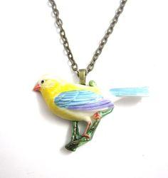 Vogel Kette // bird necklace via DaWanda.com