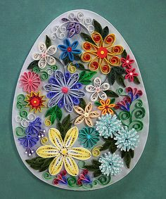 Quilled flowers,