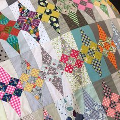 On the last day of Symposium I had another class with Jen Kingwell. This time it was for her Glitter quilt, which is a pattern I've admired...