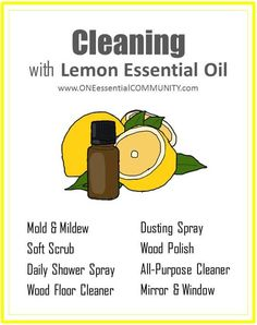 cleaning with lemon essential oil- mold & mildew soft scrub shower spray
