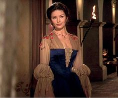 Catherine Zeta-Jones as Elena Film: Mask of Zorro (1998) Costumes by Graciela Mazon