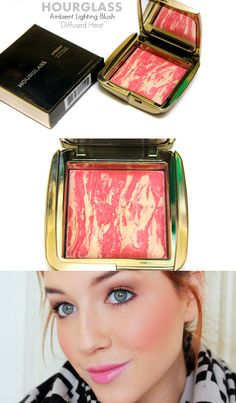 """HOURGLASS Ambient Lighting Blush """"Diffused Heat"""" - a vibrant poppy coral, perfect for spring and summer   www.loveshelbey.com"""