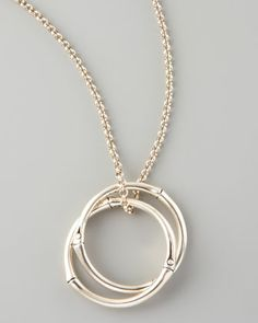 Bamboo Link-Pendant Necklace by John Hardy at Neiman Marcus.