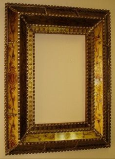 Gold Reverse Painted Glass Mirror