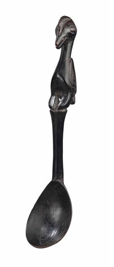 Africa | Spoon from the Baule people of the Ivory Coast | Wood. H: 24 cm. | ca. 19th - 20th century