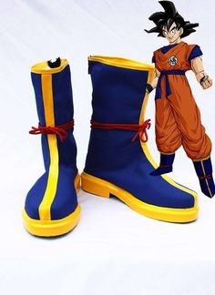 Dragon Ball Son Goku Cosplay Shoes Boots Hand Made Custom Made - Visit now for 3D Dragon Ball Z compression shirts now on sale! #dragonball #dbz #dragonballsuper