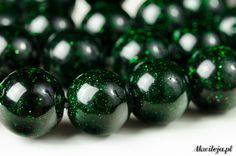 Sand desert green beads