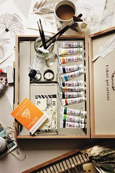 $298 Excursion Paint Set from Anthropologie I love the lived in quality of this photo.